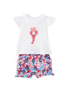 Baby-Kombination aus Shorts und T-Shirt für Mädchen JICEAENS / 20SG09N3ENS000