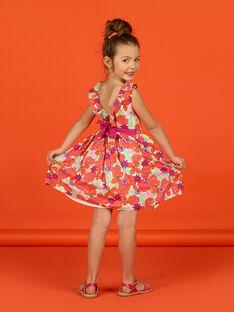 Ärmelloses Kleid für Mädchen mit Blumendruck LAVIROB1 / 21S901U1ROB000