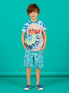 T-shirt kurze Ärmel blau Kind Junge LOBONTI1 / 21S902W2TMCC201